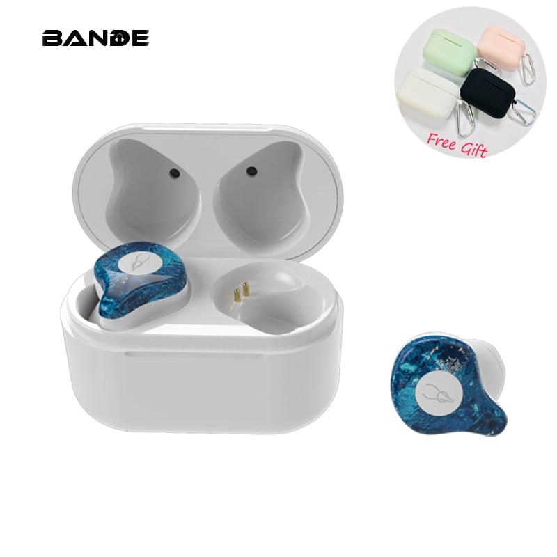 BANDE Bluetooth Ушные телефоны Bluetooth 5,0 Спортивная гарнитура IPX5 беспроводной наушник для смартфона зарядная коробка-in Наушники и гарнитуры from Бытовая электроника