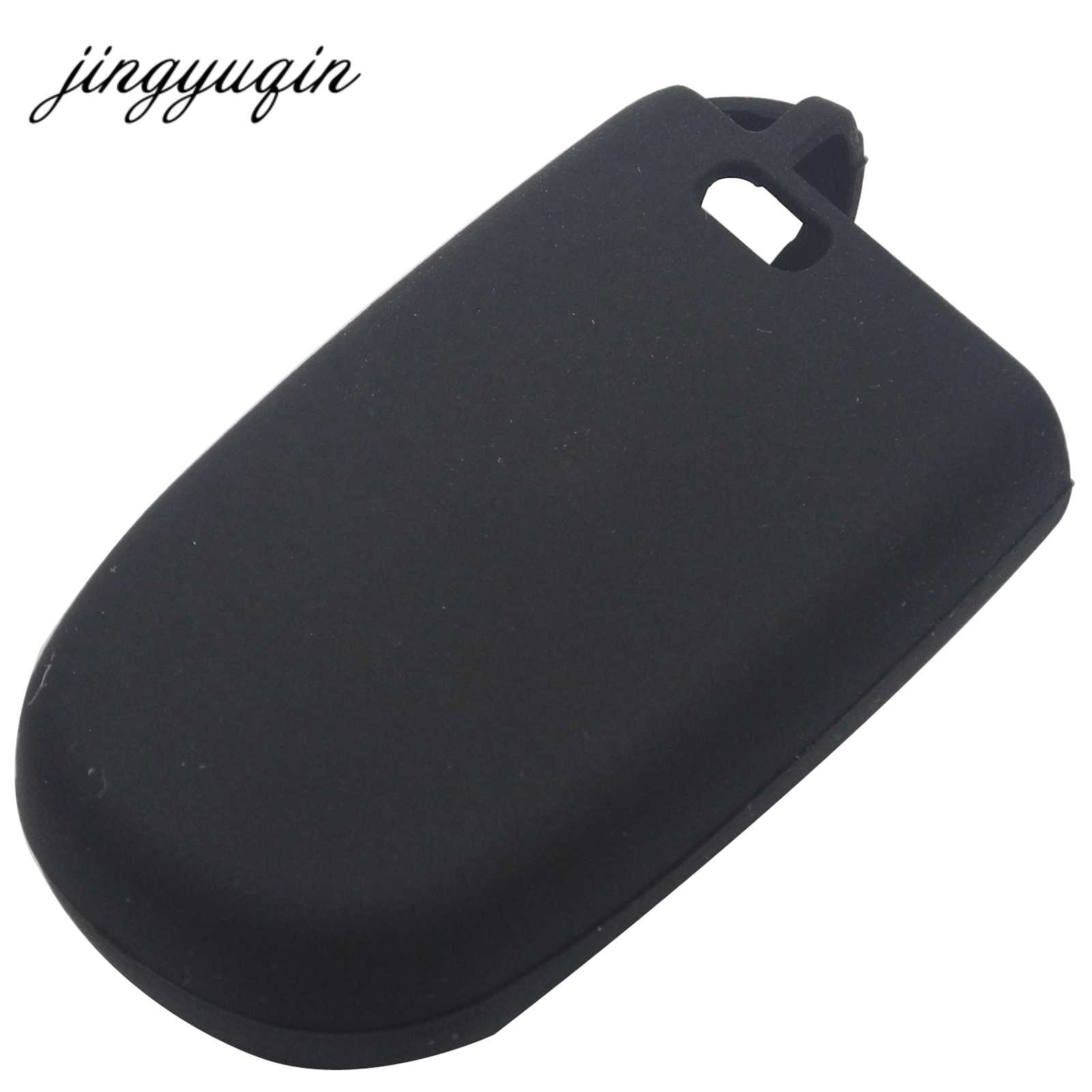 Jingyuqin Silikon Case Kunci Mobil untuk JEEP Grand Cherokee Dodge JCUV Dart Perjalanan Chrysler 300C Fiat 5 Tombol Remote cover
