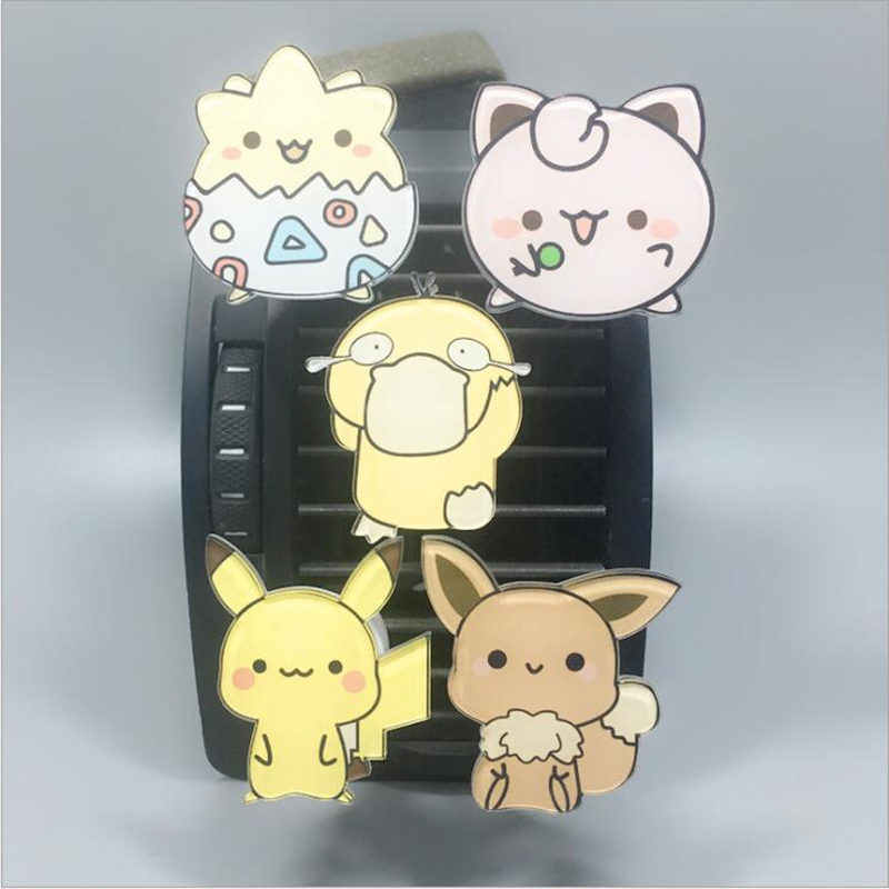 Anime Auto Vents Parfum Clip Lucht Geur Auto Decor Voor Kawaii Pikachu Pokemon Auto Air Comditioner Vent