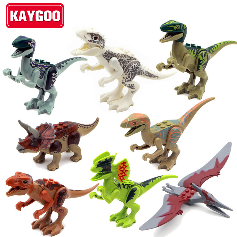 KAYGOO 8pcs/set l Jurassic dinosaurs World figures Variation Tyrannosaurus Assemble Blocks Classic Toy Best gift for boy 2 sets jurassic world tyrannosaurus building blocks jurrassic dinosaur figures bricks compatible legoinglys zoo toy for kids