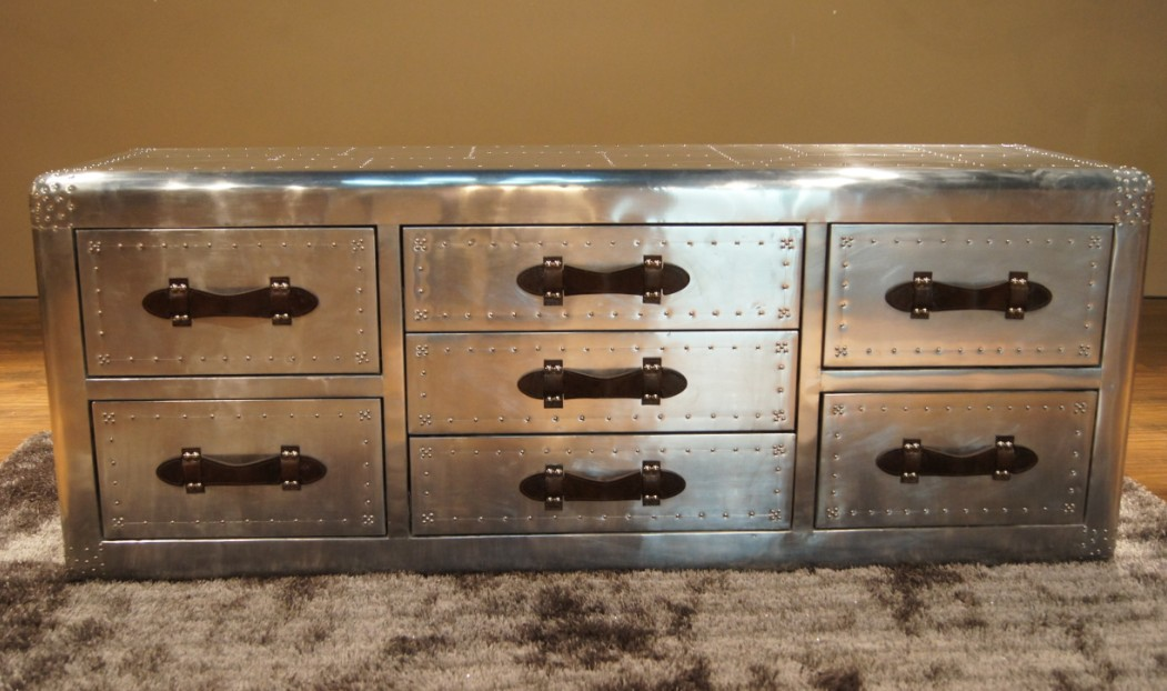 Aliexpress.com : Buy Vintage furniture fashion metal quality space aluminum  tv cabinet multi drawer cabinet rivet from Reliable rivet