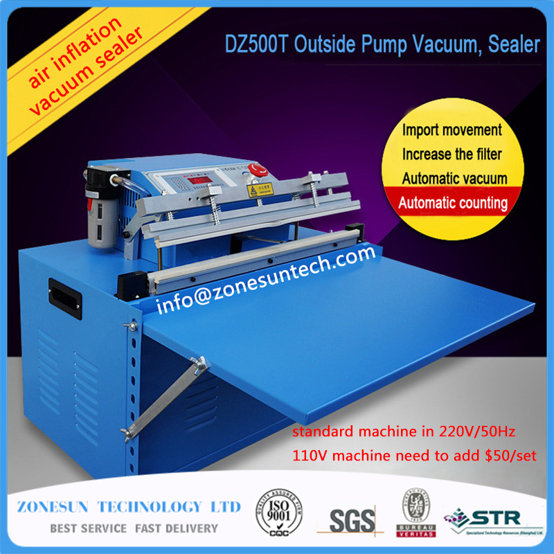 DZ500T fish rice packaging machine commercial vacuum sealer industrial vacuum package machine Desktop outside pumping vacuum commercial rolling vacuum marinated machine ka 6189 electric vacuum marinated chicken bacon machine 220v 20w