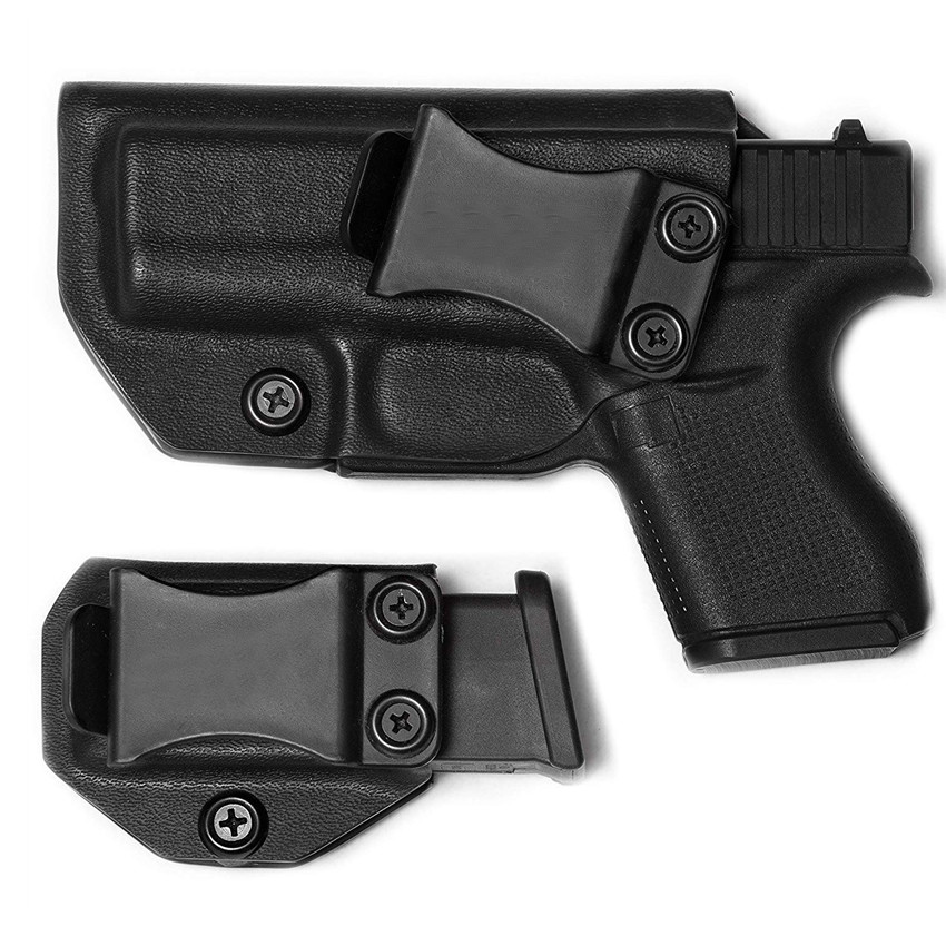Glock 43 Kydex Holster Inside The Waistband IWB Magazine Carrier Mag Holder Concealed Carry 9mm G43 6 Round  Clip CCW Pouch