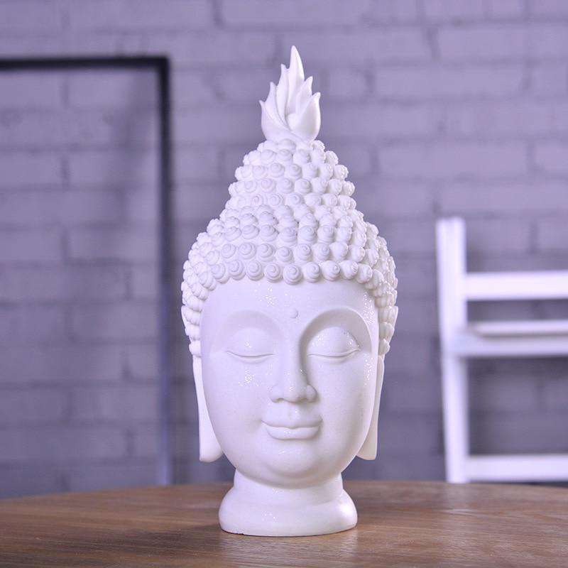 Buddha Head Buddhism Statues Sandstone Art Sculpture Resin Art&Craft Southeast Asian Buddhist Decoration L3350Buddha Head Buddhism Statues Sandstone Art Sculpture Resin Art&Craft Southeast Asian Buddhist Decoration L3350