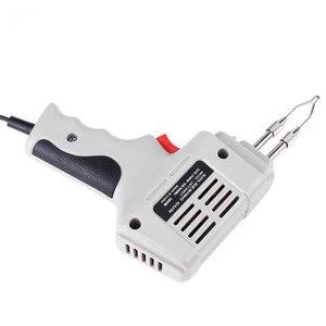 Image 5 - Pistola de ferro para solda, venda de pistola de ferro de solda elétrica pistola de ar quente calor ferramenta de solda à mão com fio de solda kit de ferramentas de reparo de solda eu 220v 100w