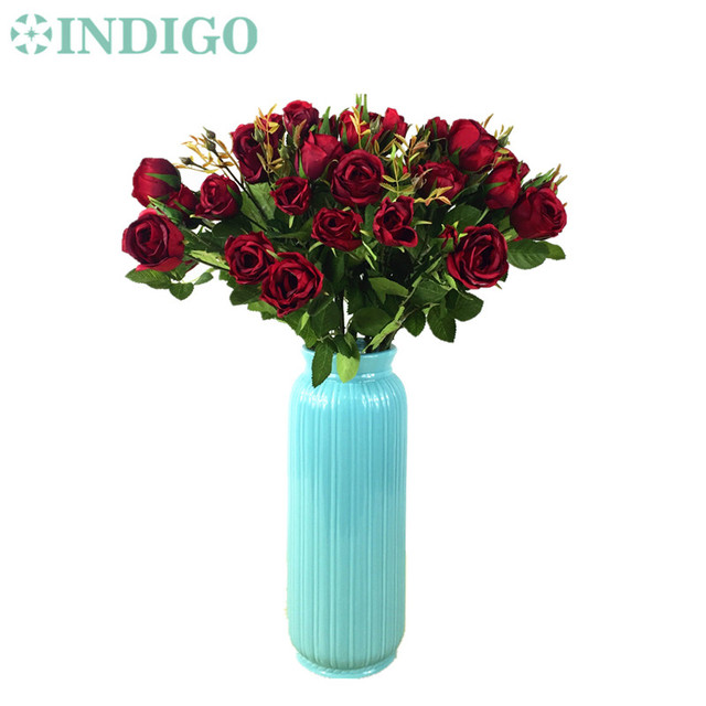 Aliexpress buy indigo wholesale 100pcs red rose spray table indigo wholesale 100pcs red rose spray table rose artificial wedding faux flower party event peony mightylinksfo
