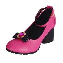 brdwn lovelive Little Devil Awaken Kousaka Honoka Minami Kotori Sonoda Umi Ayase Eli Tojo NozomiCosplay bowknot high-heel Shoes