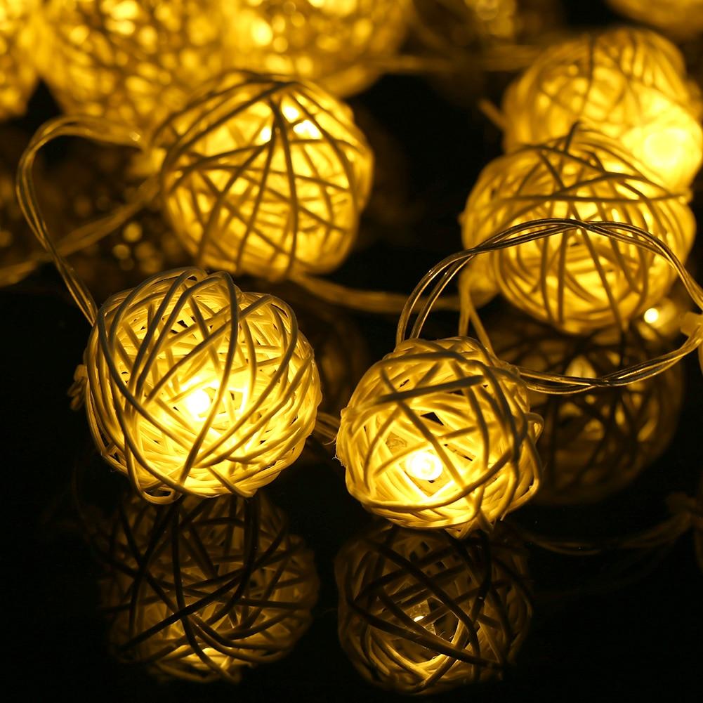 등불 공 펜 던 트 문자열 Led 조명 20 LED 따뜻한 흰색 - 휴일 조명 - 사진 2