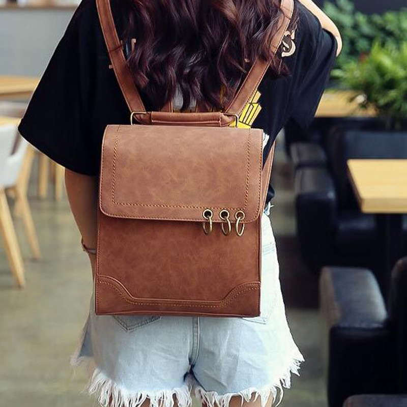 Women Backpacks with Headphone Plug Urban Fashion Preppy Style Leather school Backpack for Teenage Girls Travelling Sac A Dos рюкзаки zipit рюкзак shell backpacks