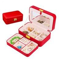Makeup Jewelry Storage Box European Princess Korean Jewelry Boxes Mirror Lock Box Gift 9 Option Color