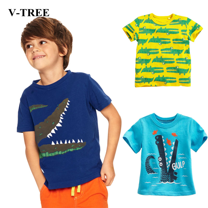 V-TREE-Childrens-T-shirt-Cartoon-boys-t-shirt-Baby-Summer-shirt-Tees-for-girls-Designer-Cotton-Baby-Clothing-1