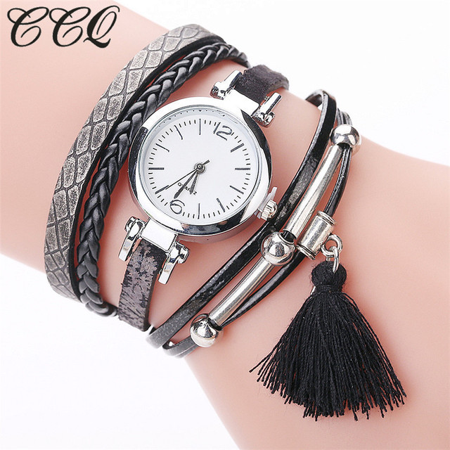 CCQ Fashion high quality Popular watch Women Girls Analog Quartz Wristwatch Ladi