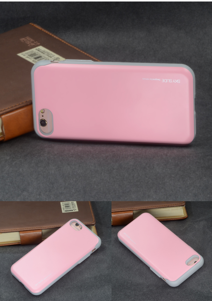 For Iphone 7 Card Pocket Case Goospery Sky Holder Slide Pc Plus Bumper Red Aeproduct