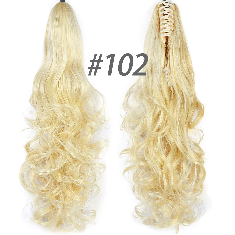 ALI shop ...  ... 32887242836 ... 4 ... DIFEI Synthetic Women Claw on Ponytail Clip in Hair Extensions Curly Style Pony Tail Hairpiece Black Brown Blonde Hairstyles ...