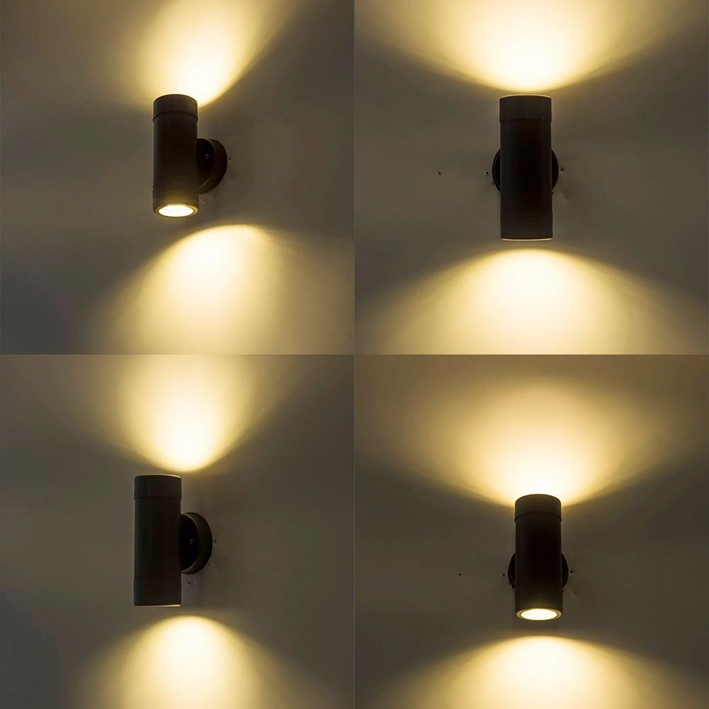 ZMJUJALED Mur Lampe de Jardin En Plein Air murale Étanche IP65 La Maison Intérieure Décoration D'éclairage Porche Lampe En Aluminium AC100 220 v