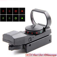 1 x 33 Tactical Fighter holographic 4 Reticle Red/Green Dot reflex sight scope Green 20 mm / 11 mm HD101 Free Shipping