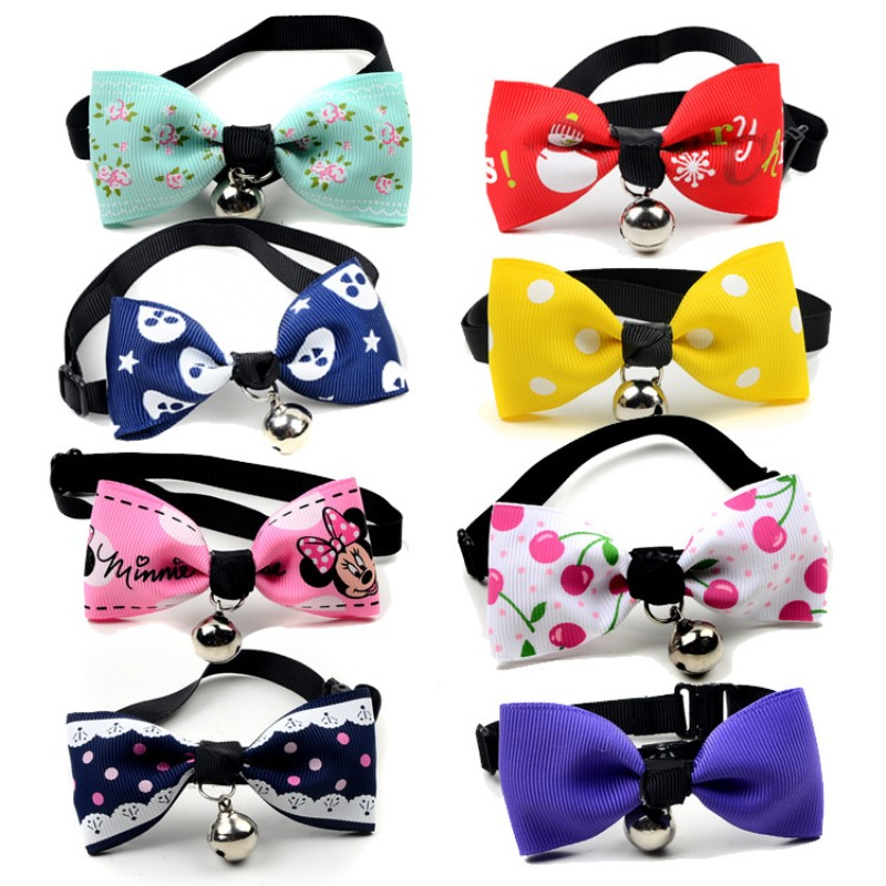2018 Multi Colors Pet Dog Bow Tie Made Of Polyester Hot Sales Pet Supplies ...