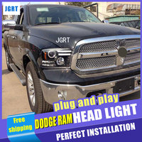 Car Styling Headlights 2011 For Dodge Ram DoubleU Angel Eye LED DRL Lens Double Beam H7