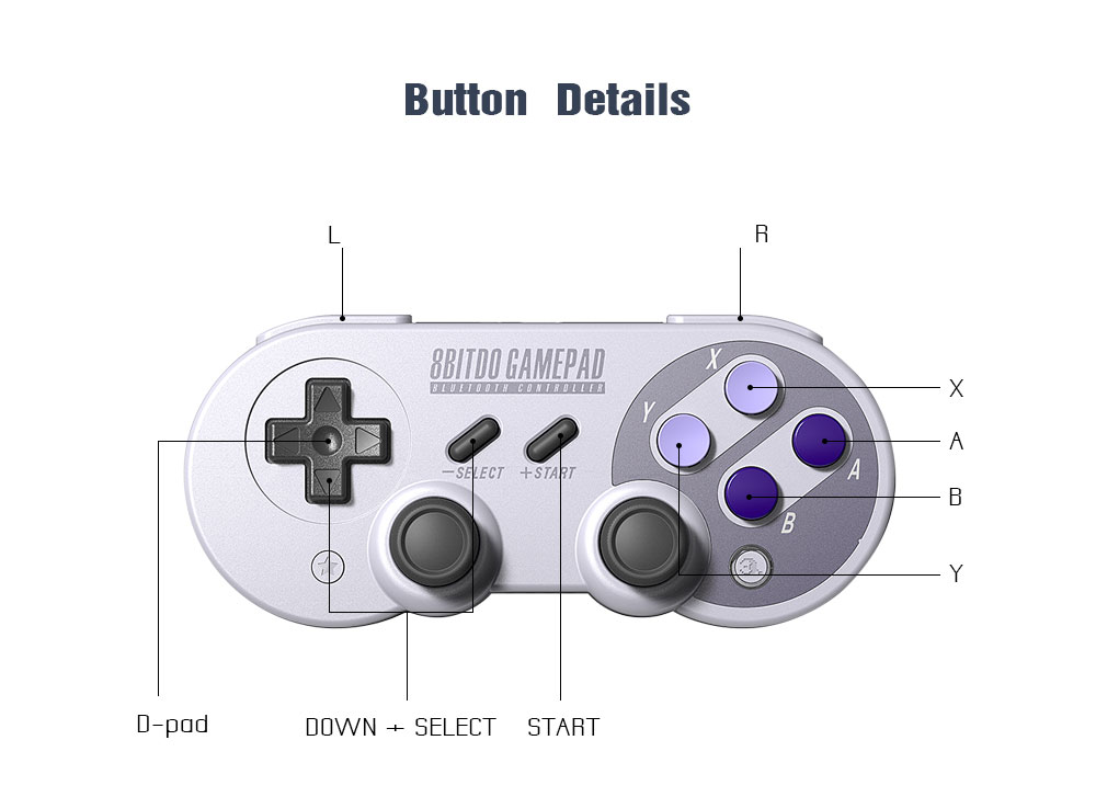 Official 8BitDo SN30 Pro Wireless Bluetooth Gamepad Controller with Joystick for Windows Android macOS Nintendo Switch Steam 18