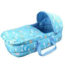 Портативная детская хлопковая люлька с москитной сеткой детские кроватки для легкого путешествия