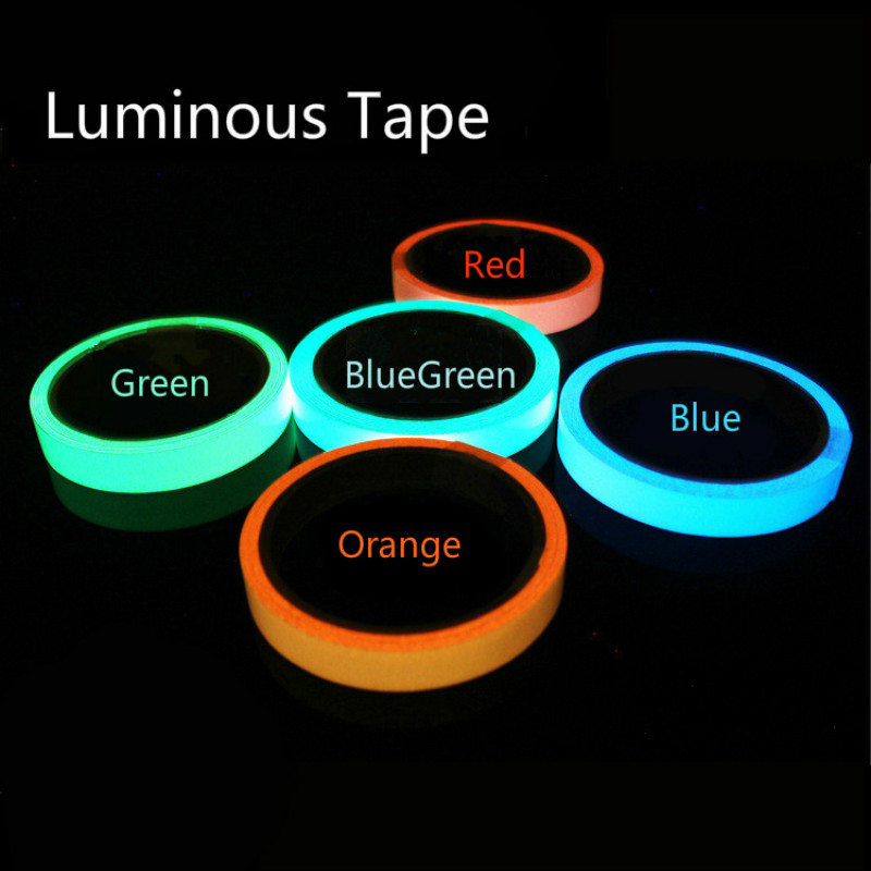 1cm*50cm Luminous Tape Self-adhesive Warning Tape Night Vision Glow In Dark Safety Security Home Decoration Tapes