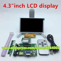 Placa controladora LCD de alta resolución, monitor de pantalla TTL de 4,3 pulgadas, 480x272, 40 Pines, HDMI, VGA, salida 2AV para raspberry pi