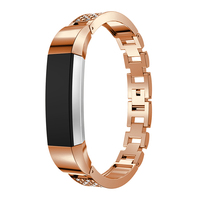 New Arrival Stainless Steel diamond-set Wrist Strap For Fitbit Alta Fashion Bracelet High Quality 4 Colors Watch Band