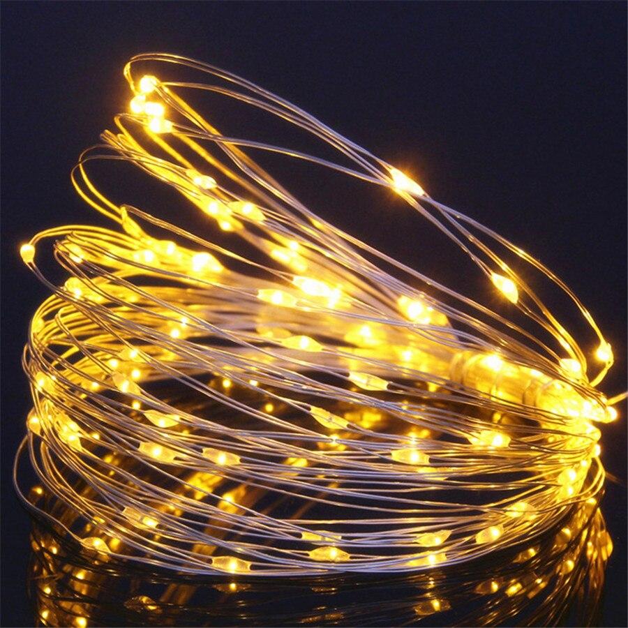 Usb aa luzes de fadas do feriado guirlanda em baterias led luzes da corda decoração natal ao ar livre festão slingers cortina tinsel