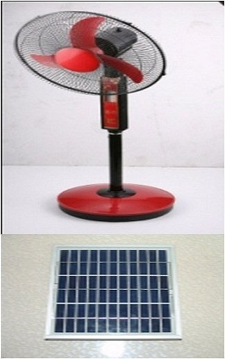 solar energy fan with LED lamp