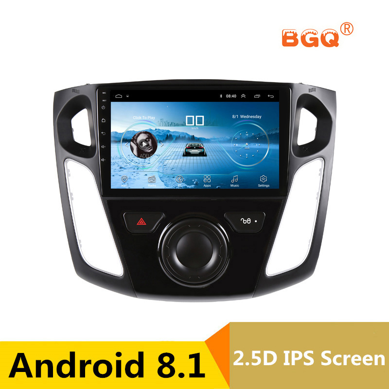 9 Android 8.1 Car DVD Multimedia Player GPS For Ford Focus 2012 2013 2014 2015 audio car radio stereo navigator wifi