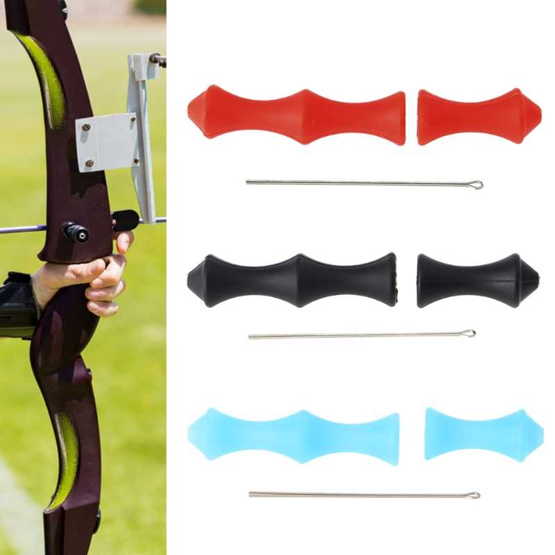 1 Set Archery Finger Guard Arrow Bowstring Accessories Hunting Protector Silicone