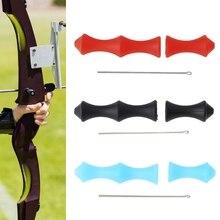 1 Set Tiro Con Larco Finger Guard Freccia Corda Accessori Caccia di Protezione In Silicone