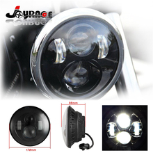 2 Pieces 7″ Motorcycle Projector Daymaker LED Light Bulb Headlight Lamp for Harley Jeep Harley White Lighting
