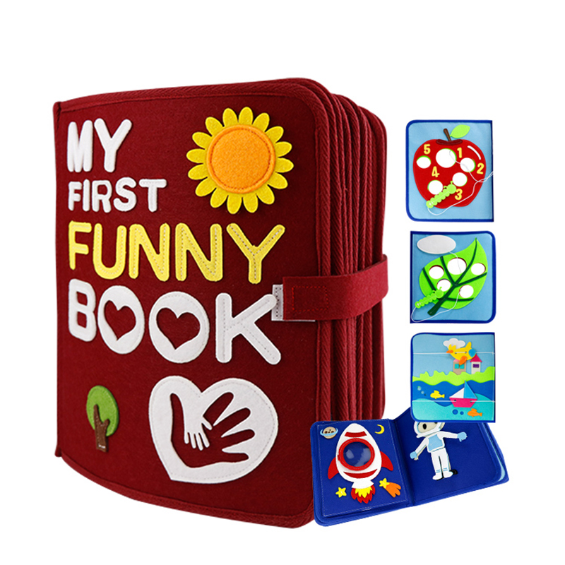 28 ページモンテッソーリ私の最初の面白い本キッズ早期教育静音は書籍のおもちゃ 21X25 センチメートルママ DIY 絵本は Diy のパッケージ  グループ上の ホーム&ガーデン からの DIY キット の中 1