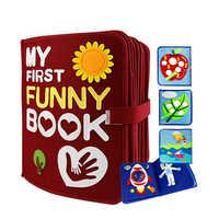 28 seiten Montessori Meine Erste Lustige Buch Kinder Frühe Bildung Ruhig Fühlte Buch Spielzeug 21X25CM Mom DIY bild Buch Fühlte DIY Paket