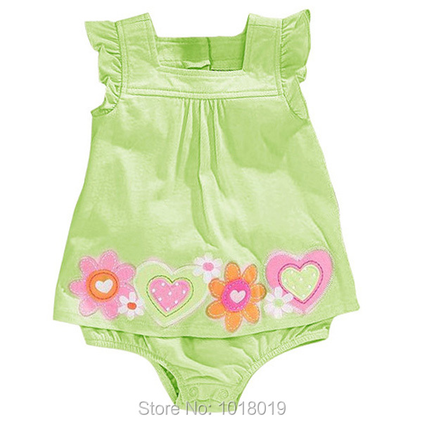 100% Combed Cotton New 2019 Branded Newborn Baby Girls Clothing Clothes Summer Bebe Bodysuti Creeper Jumpsuit <font><b>Short</b></font> <font><b>Sleeve</b></font> Girls image