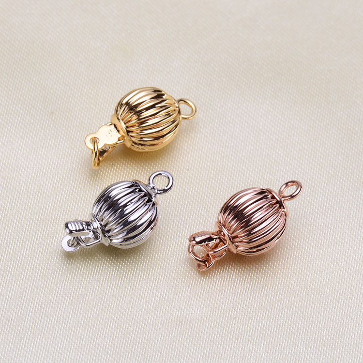 Wholesale DIY Natural Stones Beads Jewelry Making Accessories Silver/Gold/Rose Gold Metal Connector Clasps Findings