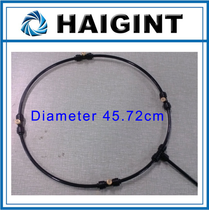 0657 HAIGINT Watering Irrigation Sprayers18 Black Water Spray Cooling System Garden Spray Ring
