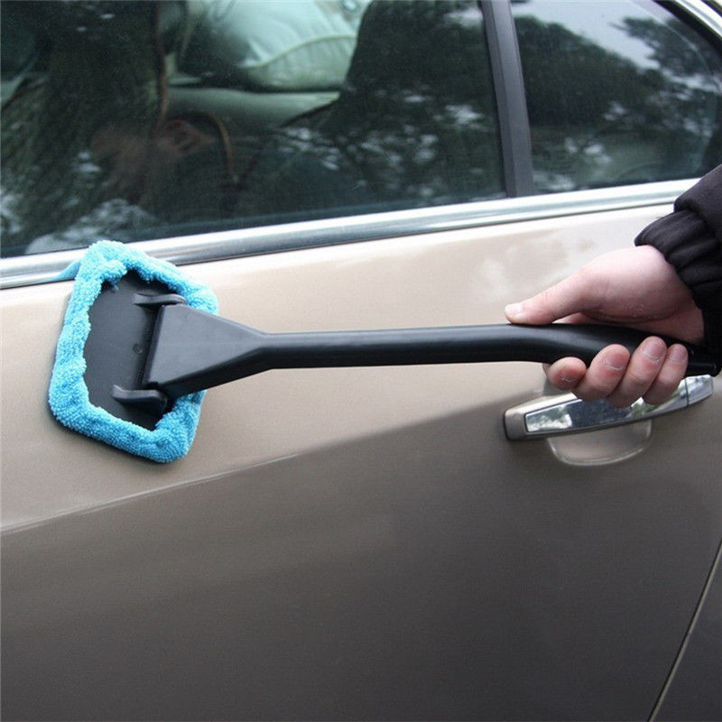 1Pcs Detachable 13 inch Window Brush Microfiber Wiper Cleaner Cleaning Brush with Cloth Pad Car Auto