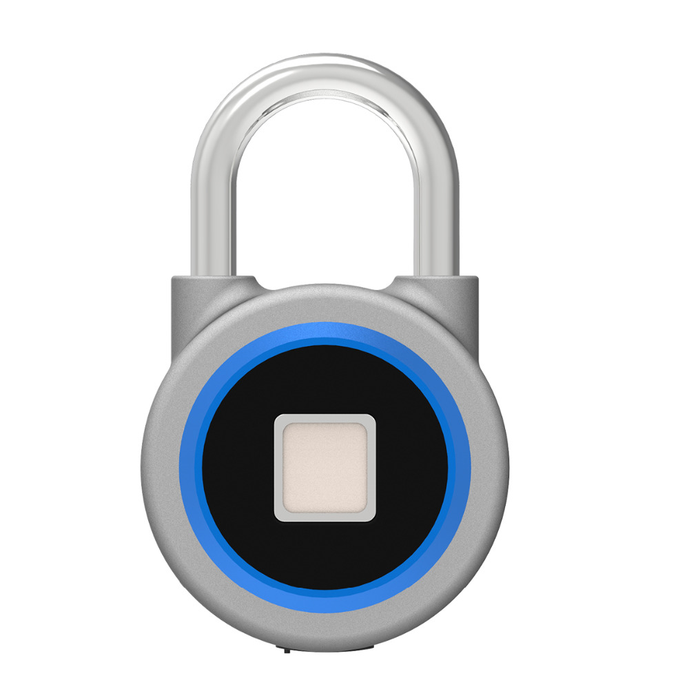 Smart Fingerprint Padlock Keyless Lock Waterproof APP Button Password Unlock Anti-Theft Padlock Door Lock for Android iOS System