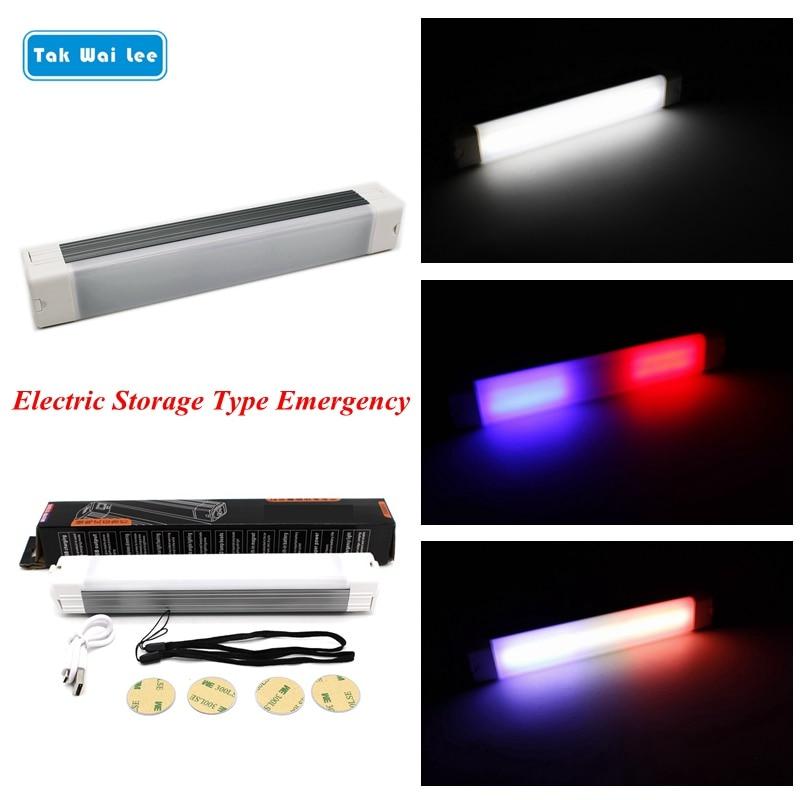 Tak Wai Lee 1X USB LED Strobe Flash Multifunctional Warning Car Light DC12V 3 Modes Change Styling Fireman Police Emergency Lamp