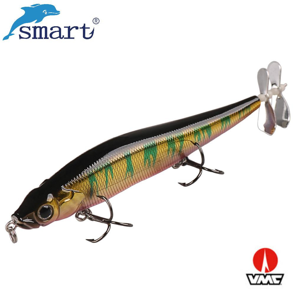 Smart Pencil Fishing Lure 110mm Sinking Wobblers Hard Bait with Props Propeller Iscas Para Pescaria Lifelike Fishing Swimbait
