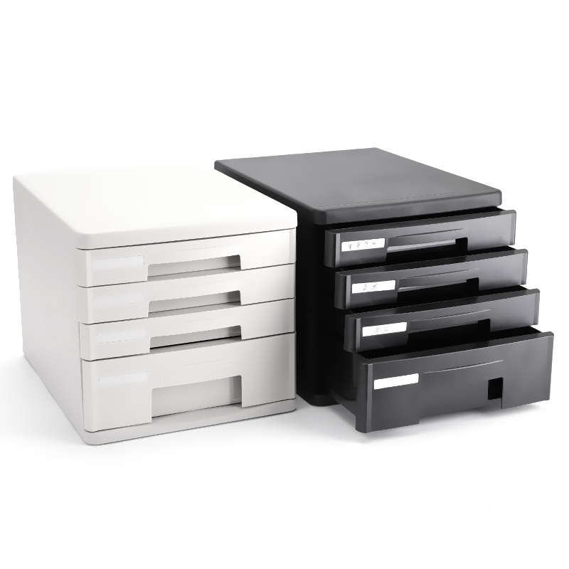 2-Layer Desktop Organizer Storage Box with Drawers for Monitor Stand//Printer Platform-2 Color Color : A1 Wood File Cabinet