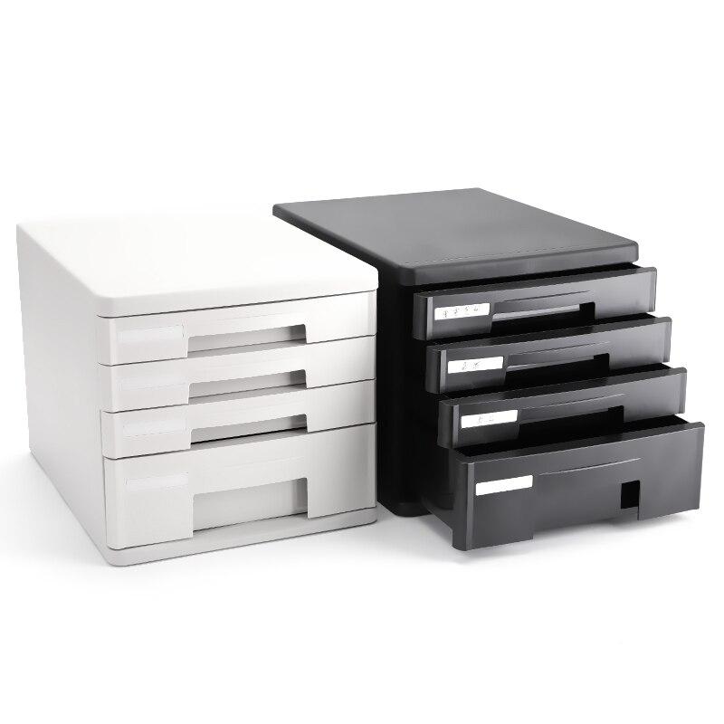 Deli 9772 9773 plastique bureau classeur documents plateaux classeur 4 couche 5 couche tiroir classeur