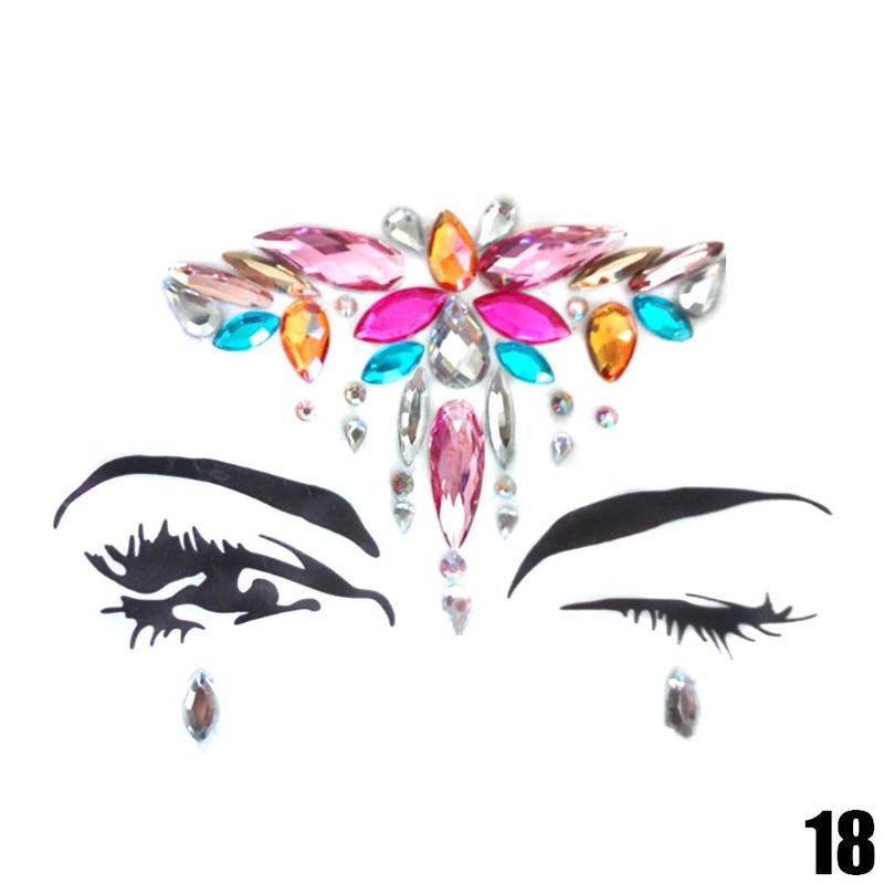 Adhesive Face jewels Gems Temporary Tattoo 5