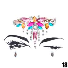 Adhesive Face jewels Gems Temporary Tattoo Face Jewels Festival Party Body Gems Rhinestone Flash Tattoos Stickers Body Make Up