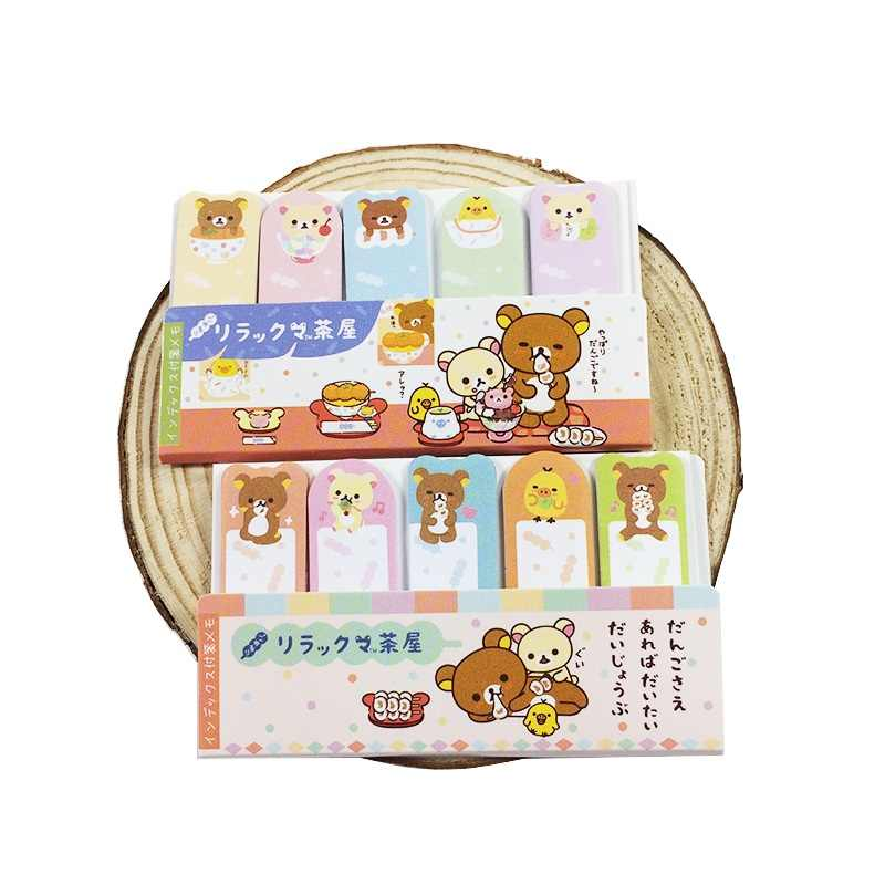 75 Pcs/pack Muti-design rilakkuma series Memo Pad Sticky Notes bookmaker sticker Stationery School Supplies Papeleria Memo