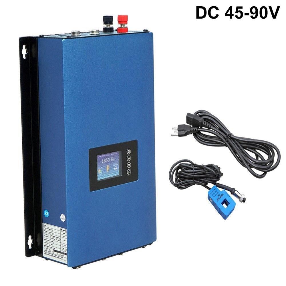 1000W falownik solarny SUN1000GTIL2-LCD zakres napięcia wejściowego 22-60vdc/45-90vdc czysta fala sinusoidalna falownik solarny