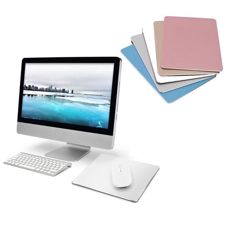 Aluminum Metal Mouse Pad Gamer Slim Computer Mouse Mat Gaming Laptop PC Gaming Rubber Mousepad for Apple Mackbook for Dota