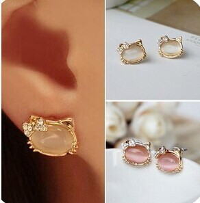Kitty Crystal Cute Earrings